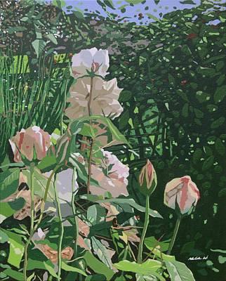 Rose Garden  Poster by Malcolm Warrilow
