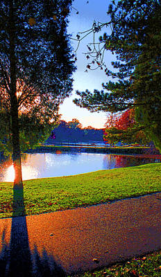 Rose Hulmn Lake Scene Image Poster by Paul Price