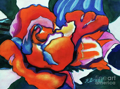 Rose In Outline Poster by Kathy Braud