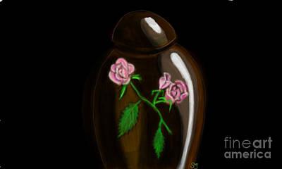 Rose Jar Poster