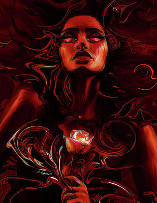 Rose Poster by Kia Kelliebrew