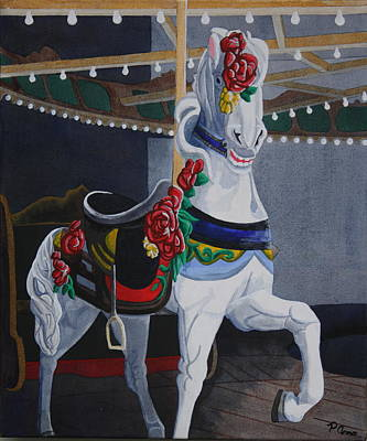 Poster featuring the painting Rose Lead Horse by Paul Amaranto