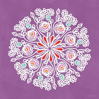 Rose Mandala 1- Art By Linda Woods Poster