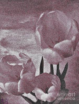 Rose Tulips Poster by Marsha Heiken