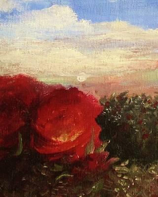 Rosebush Poster by Mary Ellen Frazee