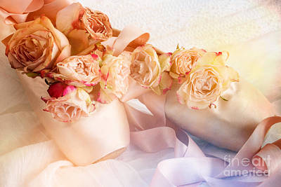 Roses And Dance Shoes Poster