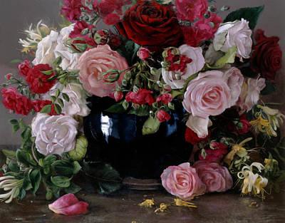 Roses Et Chevrefeuille Poster by Kira Weber