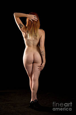Rosie Nude Fine Art Print In Sensual Sexy Color 4654.02 Poster by Kendree Miller