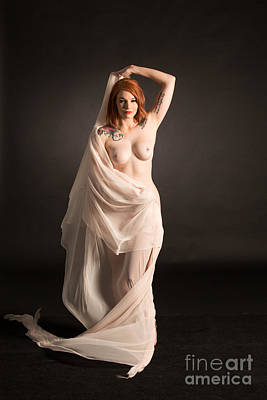 Rosie Nude Fine Art Print In Sensual Sexy Color 4676.02 Poster by Kendree Miller