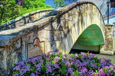 Rosita's Bridge - San Antonio Texas Riverwalk Poster by Gregory Ballos