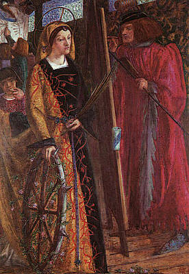 Rossetti Dante Gabriel Saint Catherine Poster by Dante Gabriel Rossetti