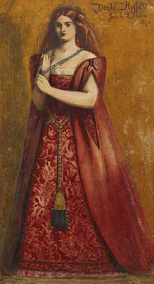 Rosso Vestita  Poster by Dante Gabriel Rossetti
