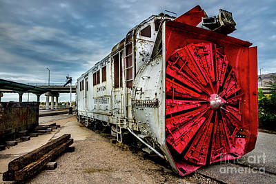 Rotary Snow Plow Vintage Train - Utah Poster by Gary Whitton