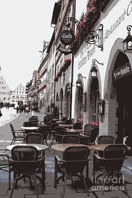 Rothenburg Cafe - Digital Poster