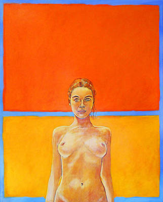 Rothko Nude 2 Poster by Philip Smeeton