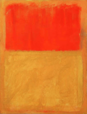 Rothko's Orange And Tan Poster