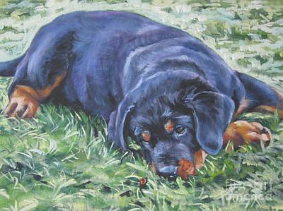 Rottweiler Puppy Poster by Lee Ann Shepard
