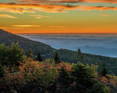 Rough Morning - Blue Ridge Parkway Sunrise Poster