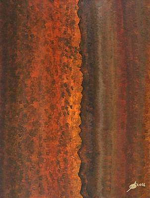 Rough Timber Original Painting Poster by Sol Luckman
