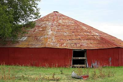 Poster featuring the photograph Round Red Barn by Sheila Brown