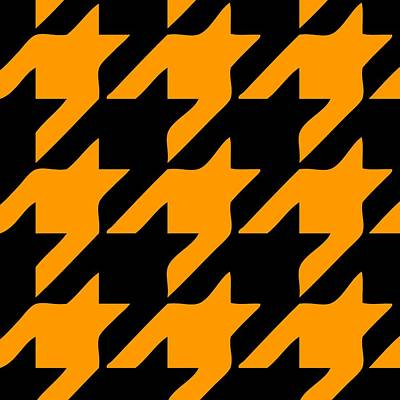 Rounded Houndstooth Black Background 03-p0123 Poster by Custom Home Fashions