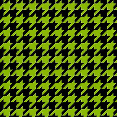 Rounded Houndstooth Black Background 09-p0123 Poster by Custom Home Fashions