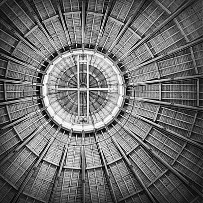 Roundhouse Architecture - Black And White Poster