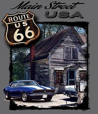 Route 66 Camaro Poster by Paul Kuras