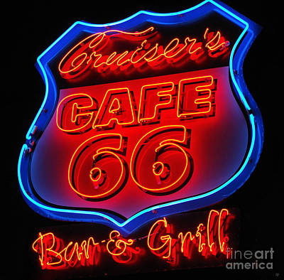 Poster featuring the photograph Route 66 by Donna Greene