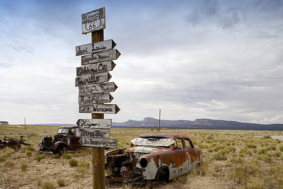 Route 66 In Arizona Poster by Carol M Highsmith
