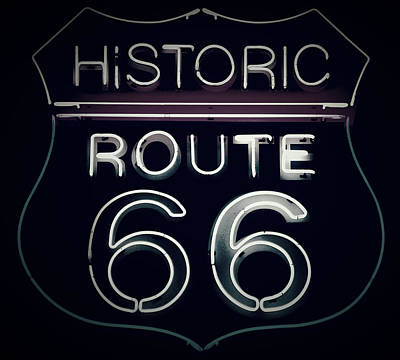 Route 66 Poster by Marilyn Peterson