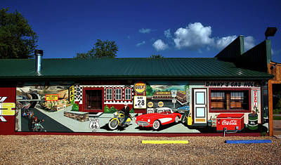 Route 66 Mural Poster by Mountain Dreams