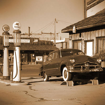 Route 66 - Old Service Station Poster by Mike McGlothlen