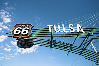 Poster featuring the photograph Route 66 Tulsa Vintage Street Art  by Gregory Ballos