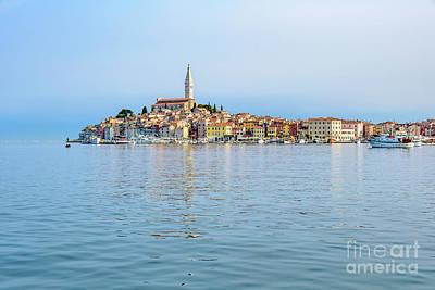 Rovinj In The Early Morning Fog, Istria, Croatia Poster