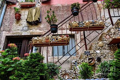 Rovinj Old Town Courtyard, Rovinj Croatia Poster