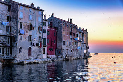 Rovinj Old Town On The Adriatic At Sunset Poster