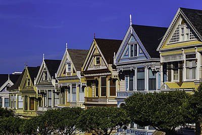 Row Of Painted Ladies Poster by Garry Gay
