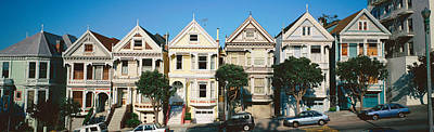 Row Of Victorian Homes, San Francisco Poster
