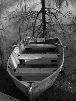 Rowboat And Tree Poster by Michael L Kimble