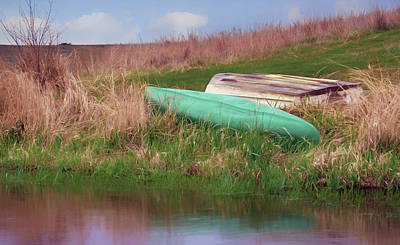 Poster featuring the photograph Rowboat - Canoe by Nikolyn McDonald