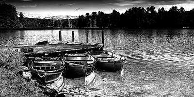 Poster featuring the photograph Rowboats At The Dock 2 by David Patterson