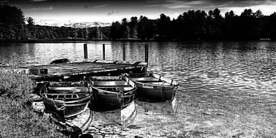 Rowboats At The Dock 2 Poster