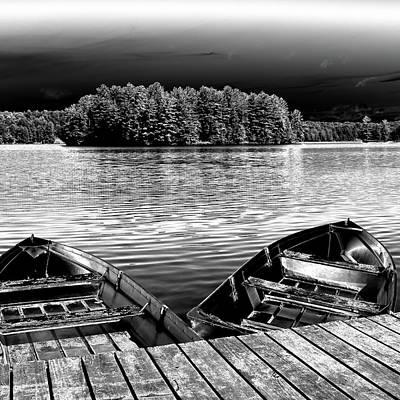 Rowboats At The Dock 4 Poster