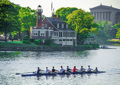 Poster featuring the photograph Rowing Crew In Philadelphia In The Spring by Bill Cannon