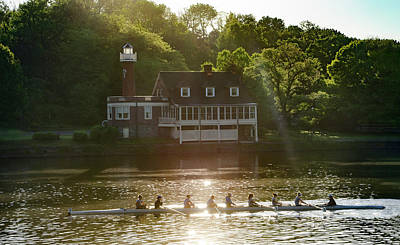 Poster featuring the photograph Rowing In Front Of Segley Club by Bill Cannon