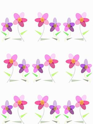 Rows Of Flowers Poster by Kathleen Sartoris