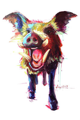 Roxie The Wild Boar Poster by Amy Eichler