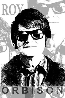 Roy Orbison Poster by Patrick Dablow