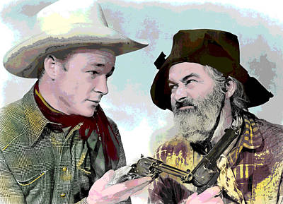 Roy Rogers And Gabby Hayes Poster by Charles Shoup